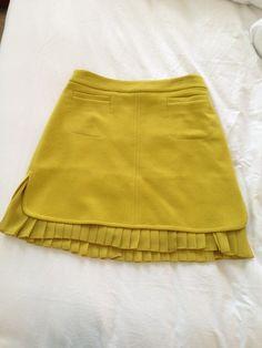 Wool skirt with flirty chiffon pleats