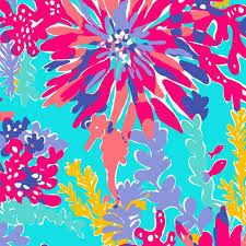 lilly pulitzer print little seahorse.