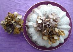Chestnut and apple bundt cake