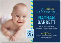 Marvelous Mail: Chill - Boy Photo Birth Announcements in Chill | Jill Smith