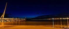 Nocturna en Salou / Night Falls in Salou (On explore Salou Spain, Travel The World For Free, Bright Side Of Life, Night Time, Northern Lights, Explore, Nocturne, Beach, Scenery