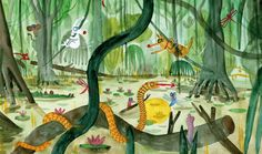 Illustration by Bernardo P. Carvalho – from 'Follow the firefly / Run, rabbit, run'