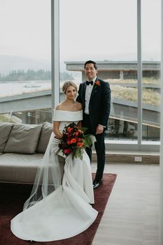 """We love how this couple brought tropical paradise indoors for their Vancouver """"I dos"""" 