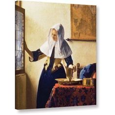 Johannes Vermeer Young Woman With A Water Jug Gallery-Wrapped Canvas, Size: 26 x 32, Purple