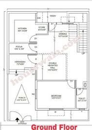 2 Bhk Floor Plans Of 25 45 Google Search 30x40 House Plans Indian House Plans Unique House Plans