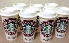 Check out this item in my Etsy shop https://www.etsy.com/listing/503147499/will-you-be-my-bridesmaids-starbucks-cup