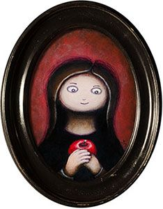 Acrylic painting 'Apple'