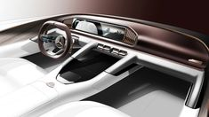 SUV concept gets a name; interior teased ahead of Beijing Mercedes-Maybach SUV concept: Vision Ultimate Luxury interior teasedMercedes-Maybach SUV concept: Vision Ultimate Luxury interior teased Car Interior Sketch, Car Interior Design, Interior Design Sketches, Truck Interior, Car Design Sketch, Interior Concept, Automotive Design, Luxury Interior, Car Sketch