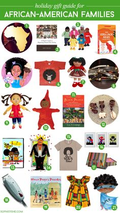 Holiday Gift Guide featuring African American families