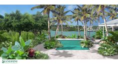 Bahamas. Private Villa in Nassau. Water as the protagonist of a Caraibian scenography.