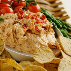 Recipe for Sun Dried Tomato and Green Onion Dip. This fresh and delightful dip makes any chip taste better. Adds excellent flavor and a touch of class to snacktime. Appetizer Dips, Best Appetizers, Appetizer Recipes, Party Appetizers, Dip Recipes, Cooking Recipes, Sundried Tomato Dip, Hummus, My Burger