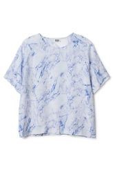 MARBLE SS SHIRT  MTWTFSS Weekday  Marble ss shirt - White