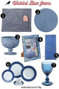 produtos para mesa posta inspirados no jeans.