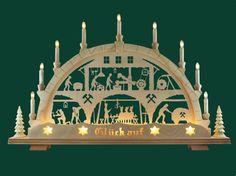 Deko und Accessoires für Weihnachten: Schwibbogen Lichterbogen Bergschmiede…