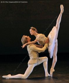 "Evgenia Obraztsova and Dmitry Gudanov in ""The Sleeping Beauty"" /Bolshoi Ballet / Paris 2013 / Photo by Marc Haegerman."
