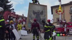 Sisma centro Italia - Soccorsi dei Vigili del Fuoco - Amatrice 9 Settemb...