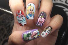 Alice In Wonderland Nails - Nail Art Gallery nailartgallery.nailsmag.com - Google Search