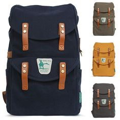 Canvas Rucksack Backpack College Backpacks for Men Yellowstone 1017                                                                                                                                                      More