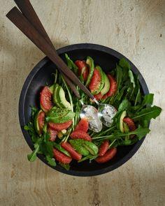 Texas Grapefruit, Avocado, and Dandelion-Greens Salad
