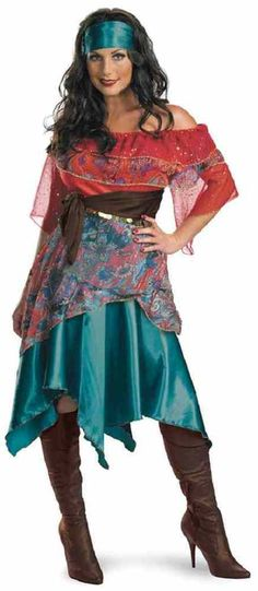Bohemian Babe Gypsy Pirate Fortune Teller Fancy Dress Halloween Adult Costume #Disguise #CompleteCostume