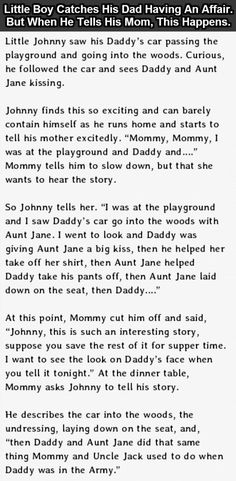 Little Boy Catches His Father Having An Affair And Then This Happened