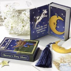 """""""Over the Moon"""" Bookmark in Nursery Rhyme Keepsake Box with Personalized Label by Beau-coup"""