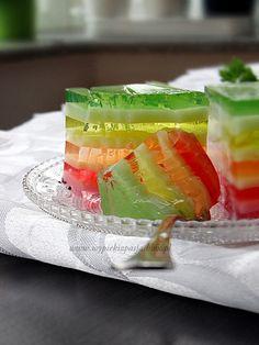 Tęczowiec - lekki i banalnie prosty deser z dwóch składników