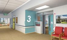 Find out how to make a hospital corridor easier for a person with dementia to use