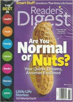 Current Reader's Digest Magazine magazine subscription and renewal offers plus publisher and customer service contact information. Joke Stories, Write Every Day, National Issues, Information Literacy, Writing Programs, Good Readers, Writing Lessons, Writing Prompts, Writers Notebook