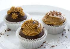 gluten free chocolate cupcakes with coffee icing!