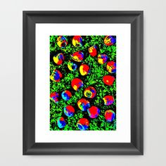 Colorful Nuts Framed Art Print