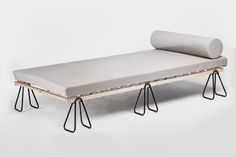 Trestle Bed with Stackable Slip-on Legs by Michael Bernard