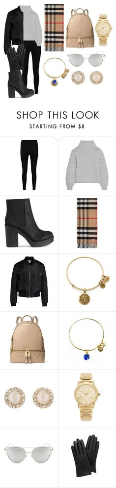 """Untitled #271"" by martinezmaia ❤ liked on Polyvore featuring Boohoo, Iris & Ink, Burberry, Sans Souci, Alex and Ani, Michael Kors, Kate Spade, Chicnova Fashion and Mulberry"