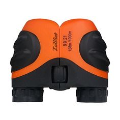 Luwint 8 X 21 Orange Kids Binoculars for Bird Watching, Watching Wildlife or Scenery, Game, Mini Compact and Image Stabilized, Best Gifts for Children ** Continue to the product at the image link.