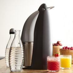 SodaStream Penguin Sparkling Water Maker: Quickly transform ordinary tap water into fresh sparkling water to enjoy on its own or as the base for cocktails or homemade sodas. #Sparkling_Water_Maker #SodaStream