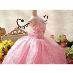 Pink Wedding Dress Doll Jewellery Stand 32cm - Promotional Offers- - TopBuy.com.au