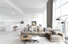 5 Ideas of Zoning Kitchen and Living Room | Furnish Burnish