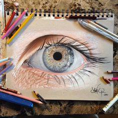 Hyper-Realistic Eye Illustrations by Jose Vergara | Inspiration Grid | Design Inspiration