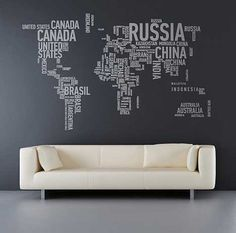 Great World Map Text Cloud