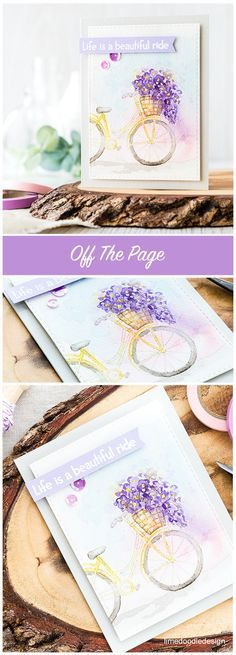Stamping an image off the page. Find out more by clicking on the following link: http://limedoodledesign.com/2016/05/off-the-page/