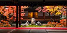 Chouontei Garden in the courtyard of Kennin-ji Temple, Kyoto, Japan