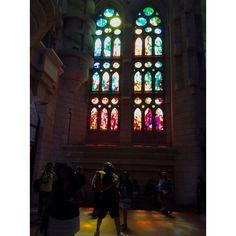 Beautiful Stain Glass Windows ... Rainbow light beams ... #Barcelona  #Spain #wanderlust  #calm #zen #love #beautiful #inspiring #instamazing #instaphoto #AntonGaudi #art #architecture #basilica  #Catalonia #masterpiece  #vacation #history #stained_glass Rainbow Light, Light Beam, Gaudi, Barcelona Spain, Stained Glass Windows, Beams, Zen, Wanderlust, Calm