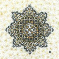 Blackwork Star Hand Embroidery  by Tanja Berlin: Berlin Embroidery Designs