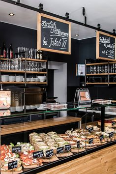 cafe restaurant by AT Social Media Marketin - Bakery Shop Interior, Bakery Shop Design, Coffee Shop Interior Design, Restaurant Interior Design, Patisserie Design, Cafe Restaurant, Bakery Cafe, Modern Restaurant, Deli Cafe