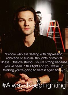 #AlwaysKeepFighting This is so beautiful. It's nice to know that there are people like Jared who care so much for their fellows.