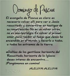 MIS PROPÓSITOS : DOMINGO DE PASCUA