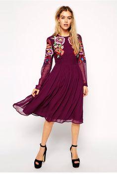 Purple dress ASOS