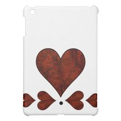 Red Stone Pattern Hearts iPad Mini Covers