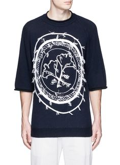 3.1 PHILLIP LIM Stamp Embroidery Wool-Yak-Cashmere Sweater. #3.1philliplim #cloth #sweater