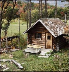 A very old cabin Would you stay here?